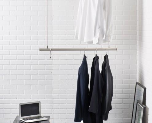 h ngegarderobe k chenreling airjust twin. Black Bedroom Furniture Sets. Home Design Ideas