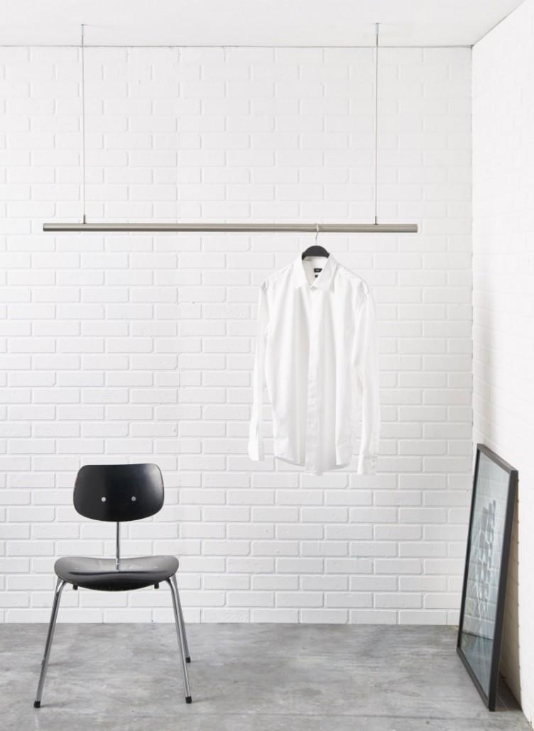 Freih ngende garderobenstange kleiderstange airjust for Garderobenstange design
