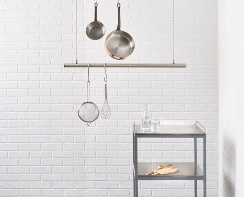 Küchenstange hängegarderobe küchenreling airjust